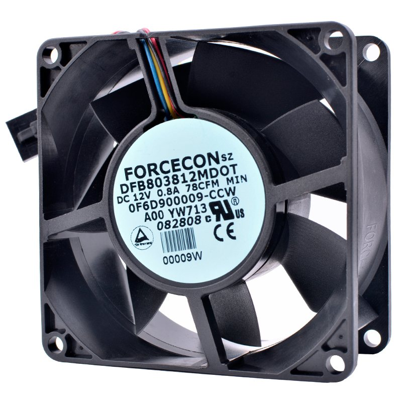 DFB803812MDOT DC12V 0.8A Double ball bearing cooling fan