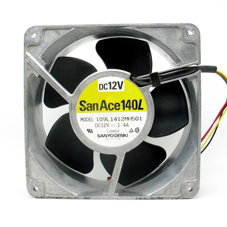 Sanyo 109L1412MH501 DC12V 1.4A metal cooling fan
