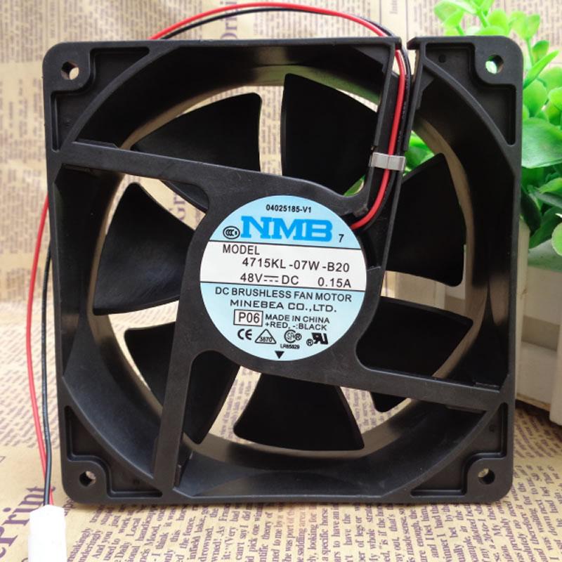 NMB 4715KL-07W-B20 DC 48V 0.15A 2-wire axial flow fan
