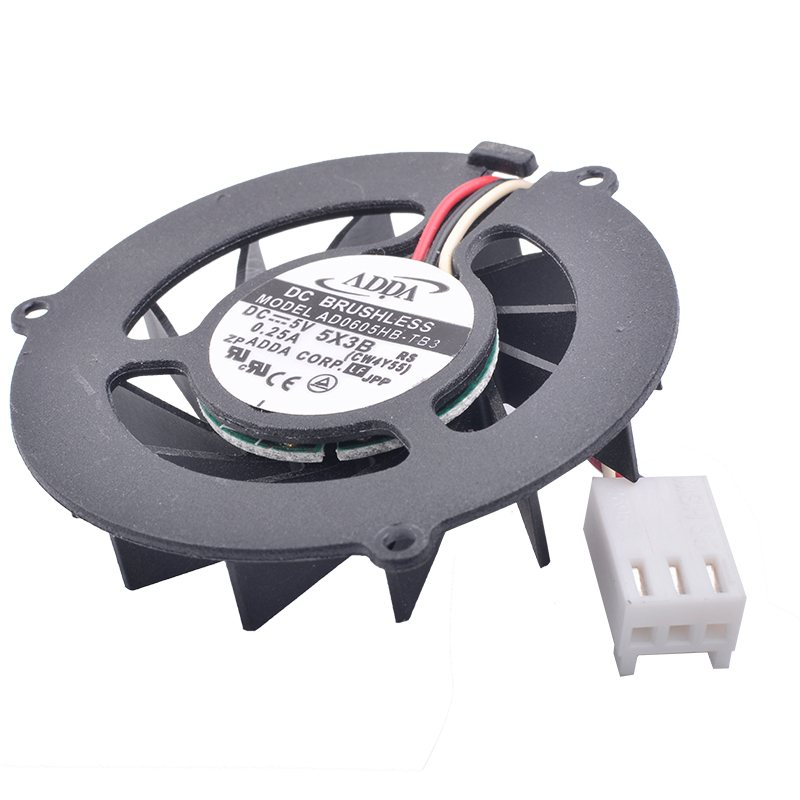 ADDA AD0605HB-TB3 DC 5V 0.25A Double ball bearing Notebook cooling fan