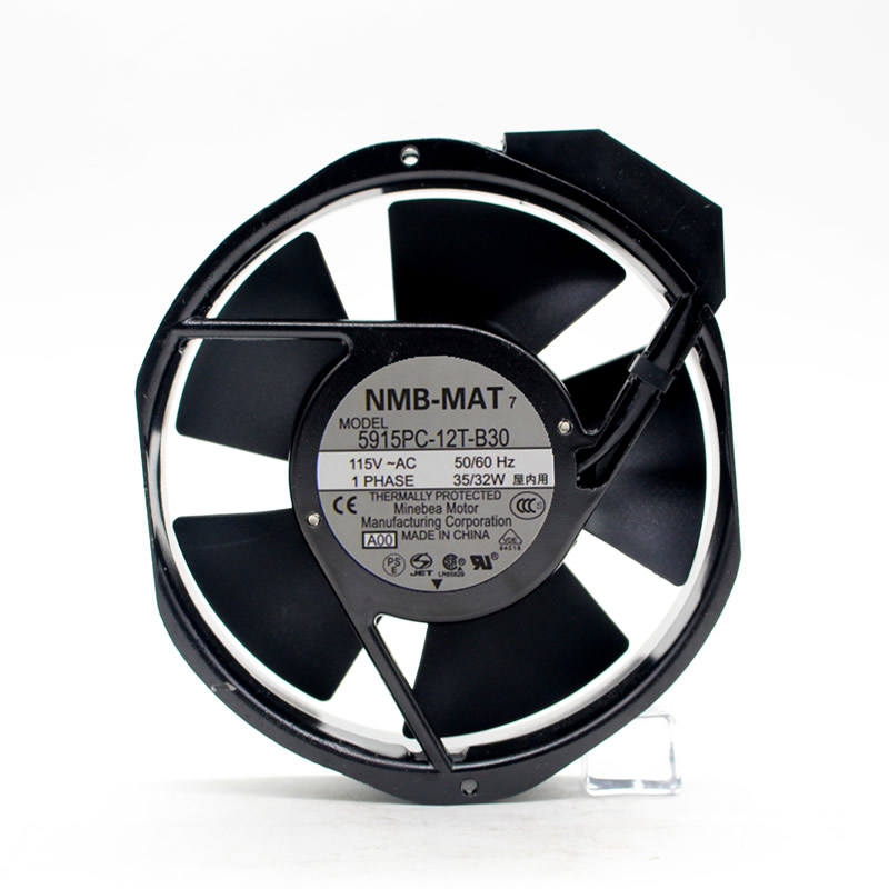 NMB-MAT 5915PC-12T-B30 AC115V 35/32W axial cooling fan