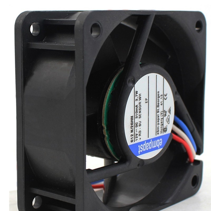 Ebmpapst 612 N/2GHH DC12V 0.31A 3.7W Server Square Cooling Fan