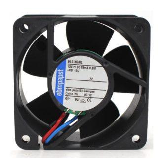 Ebmpapst 612NGML 612 NGML DC12V 75mA 0.9W 25CFM Cooling Fan