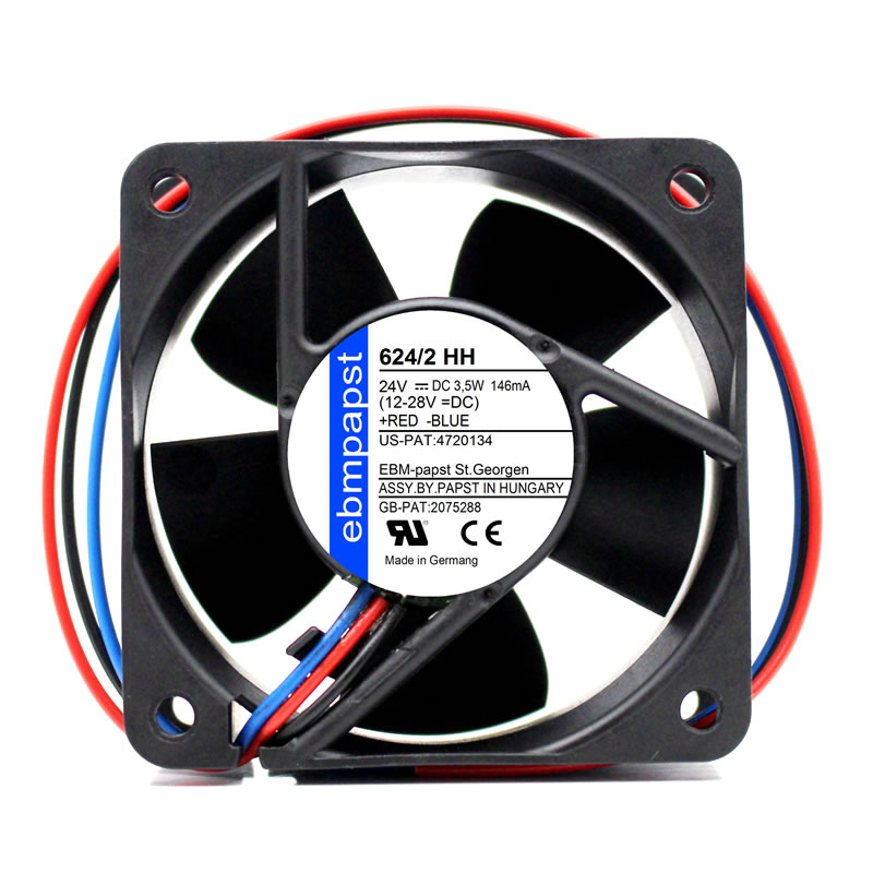 ebmpapst 624/2HH 624/2 HH DC24V Server Square Cooling Fan