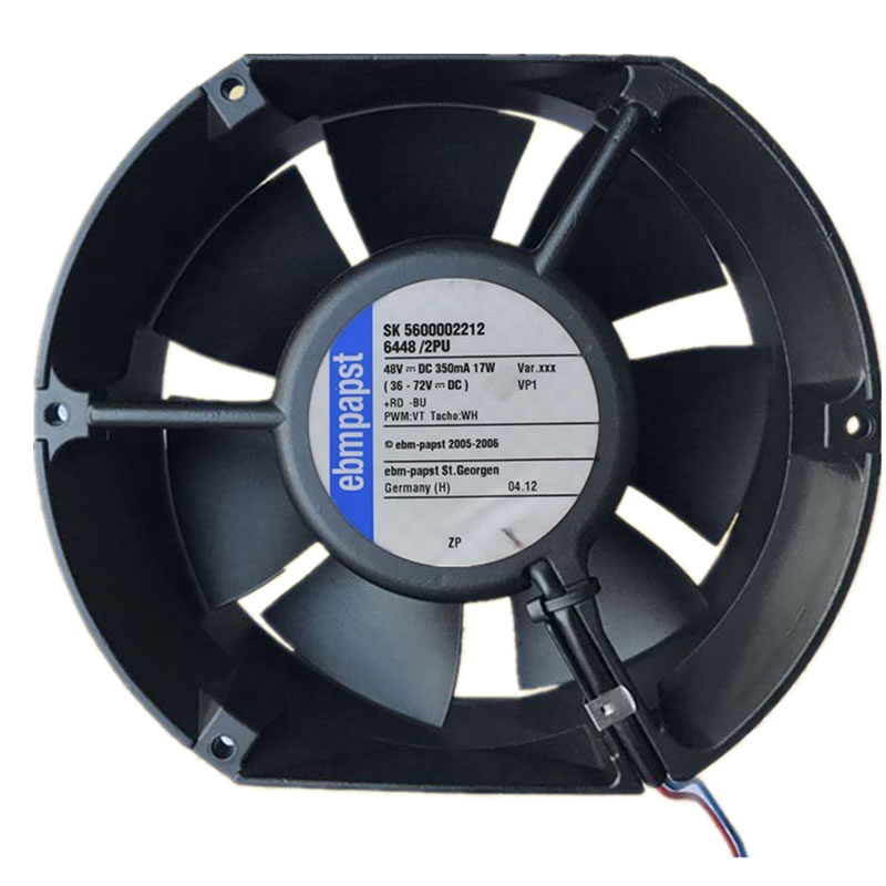 Ebmpapst 6448/2PU 48V 17W industrial axial flow cooling fan
