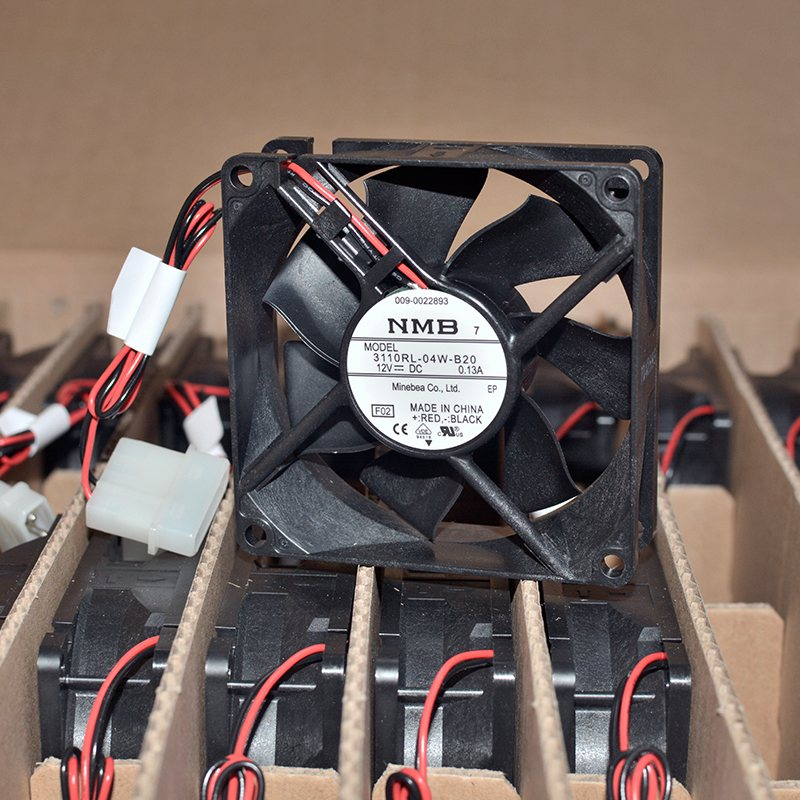 NMB 3110RL-04W-B20 12V 0.13A Double ball bearing cooling fan