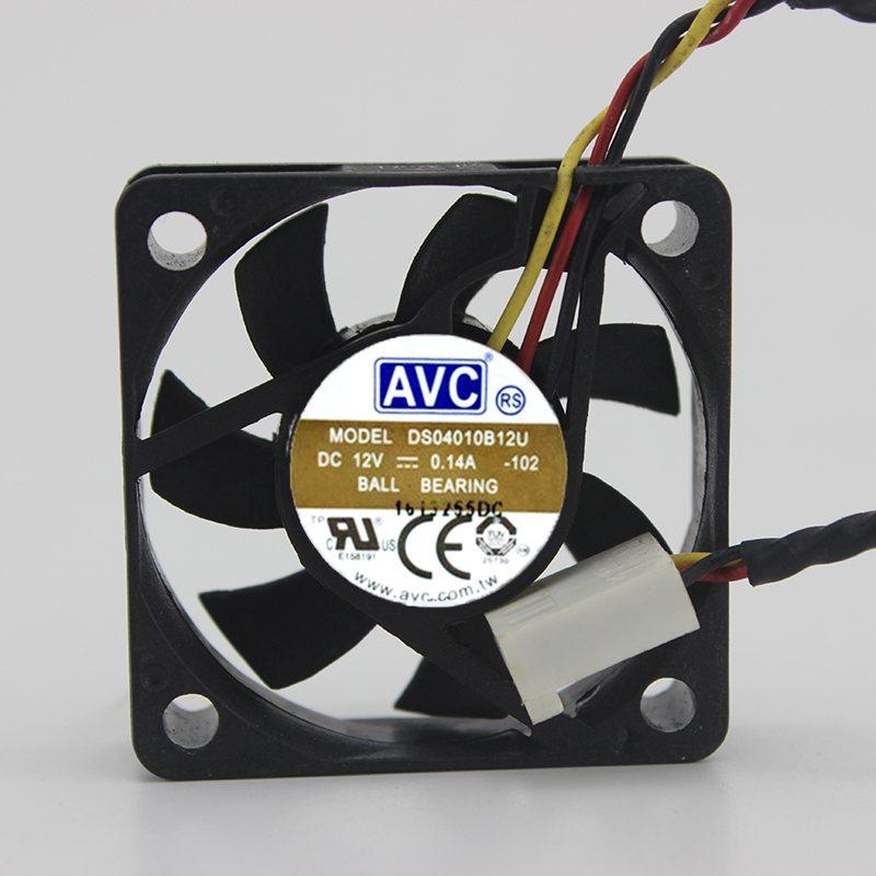 AVC DS04010B12U DC 12V 0.14A ball bearing CPU axial cooling fan