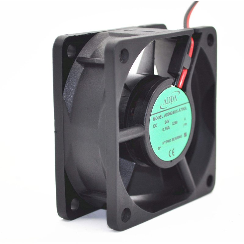 ADDA AD0624UX-A70GL DC24V 0.16A 2-wire Server cooing Fan