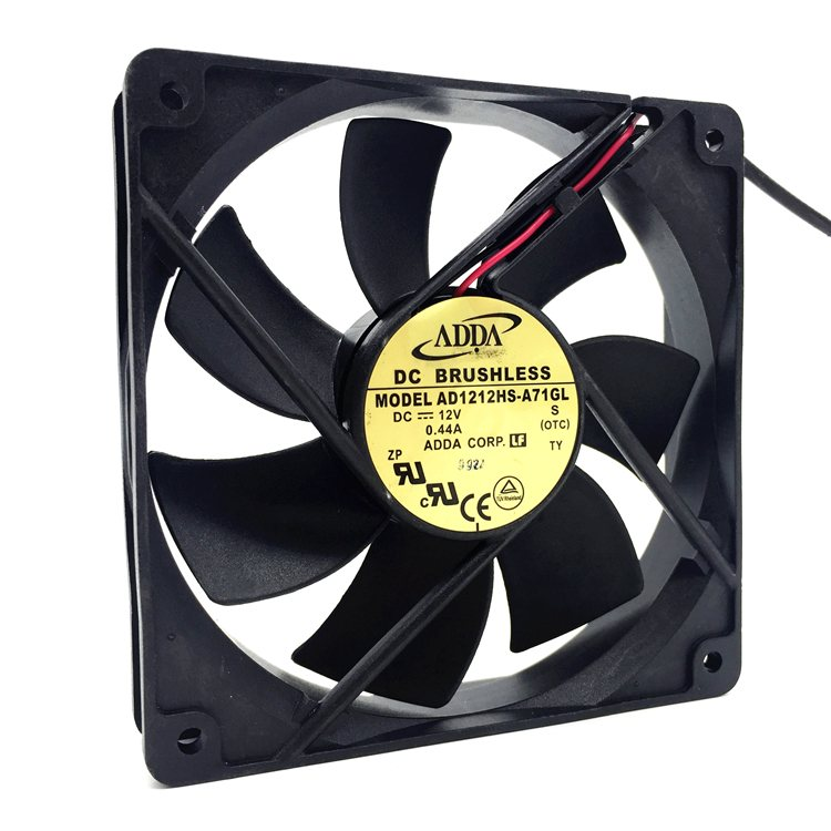 ADDA AD1212HS-A71GL 12V 0.44A 12CM 2-wire cooling fan