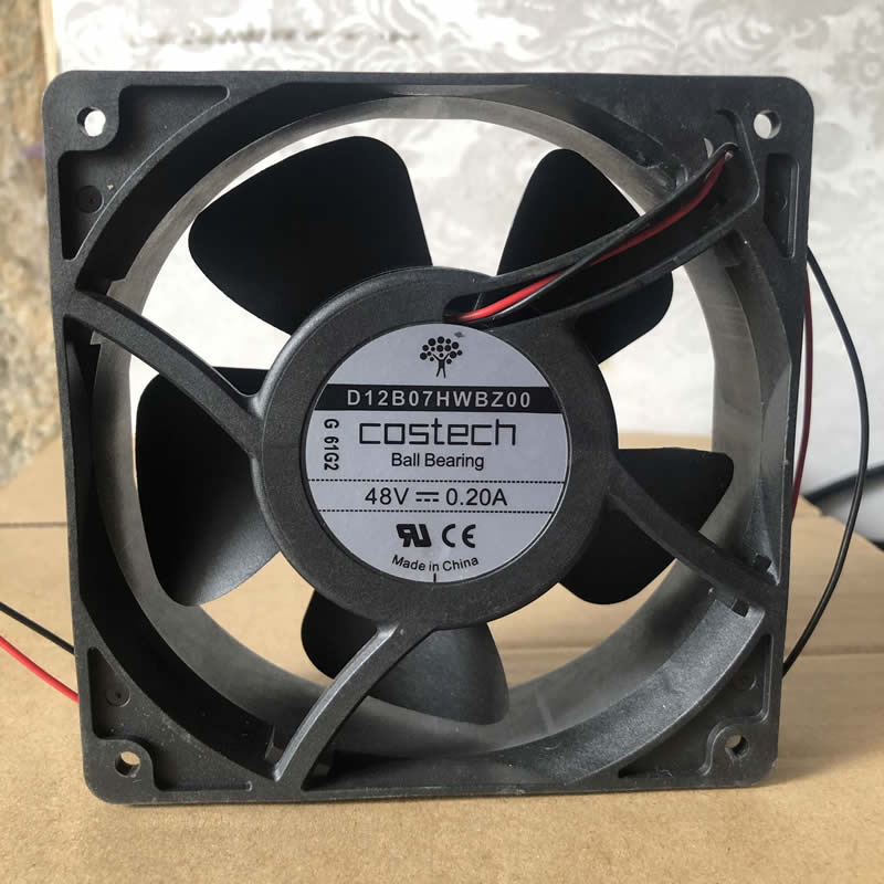 Costech D12B07HWBZ00 DC48V 0.20A 2-wire cooling fan