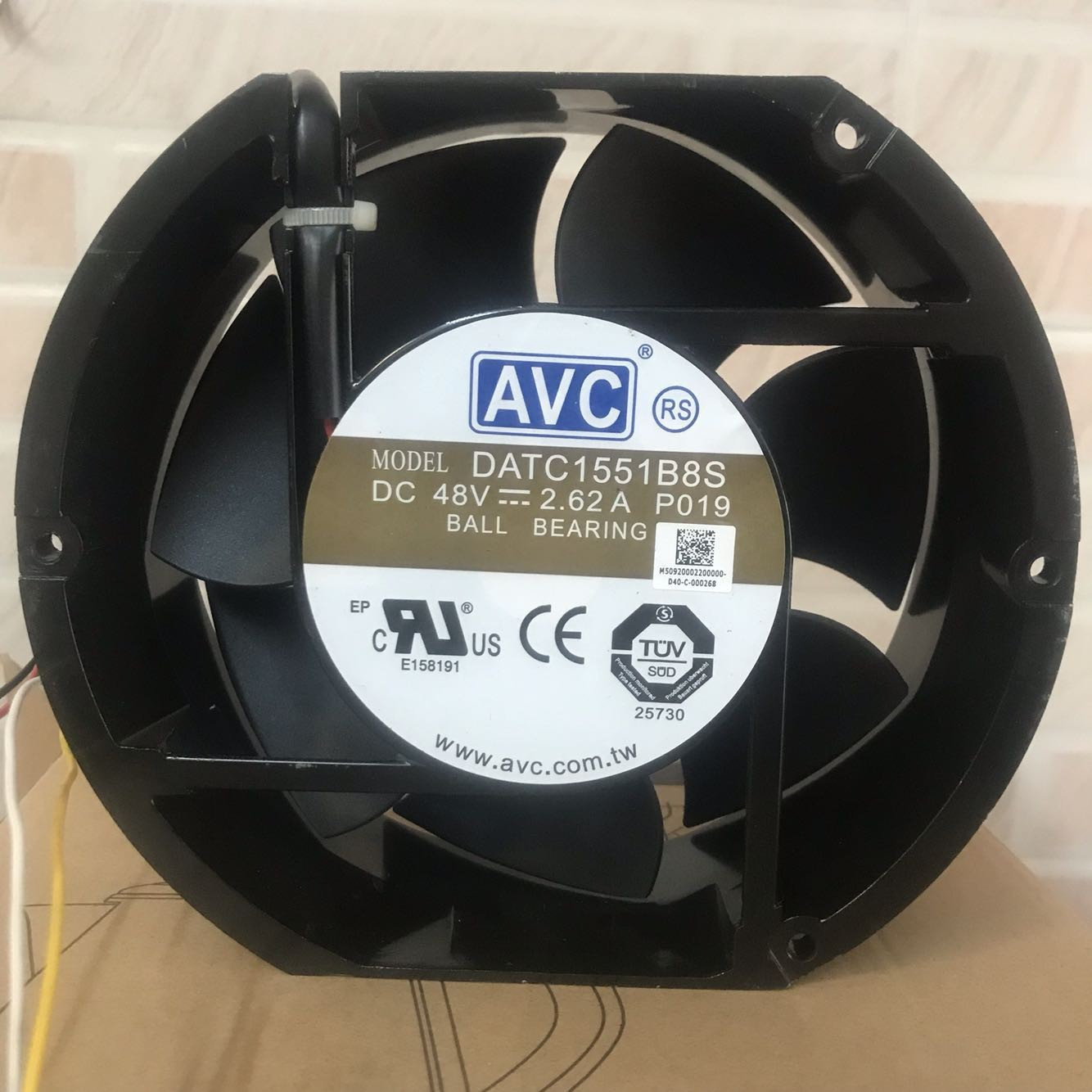 AVC DATC1551B8S 48V 2.62A  double ball bearing PWM 4-wires cooling fan