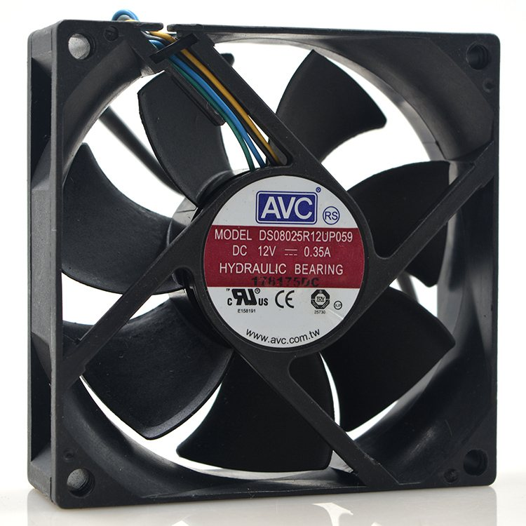 AVC DS08025R12UP059 12V 0.35A 8CM 4-wires PWM cooling fan