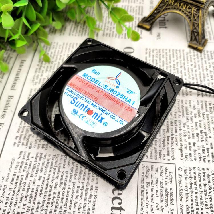 Suntronix SJ8025HA1 110V 120V 0.14A ball bearing cooling fan