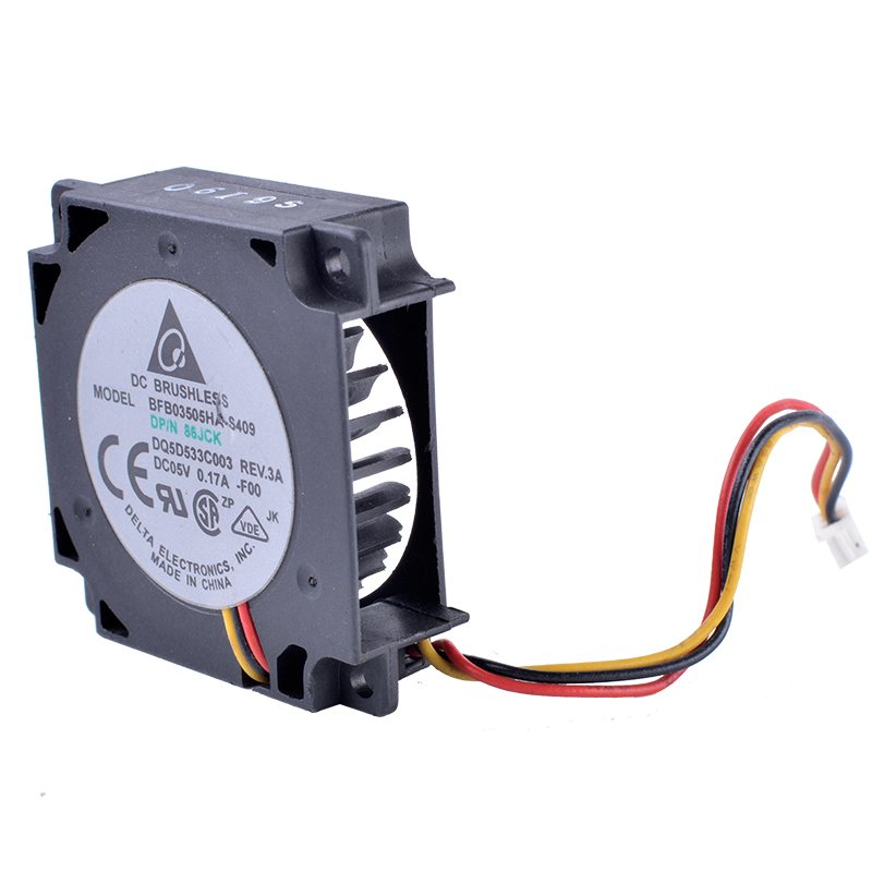 Delta BFB03505HA-S409-F00 3-wire centrifugal turbine blower notebook cooling fan
