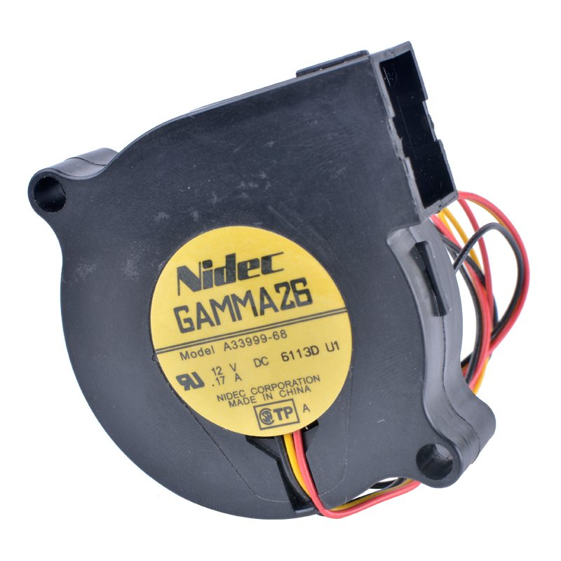 Nidec A33999-68 DC12V 0.17A 3-wire centrifugal cooling fan