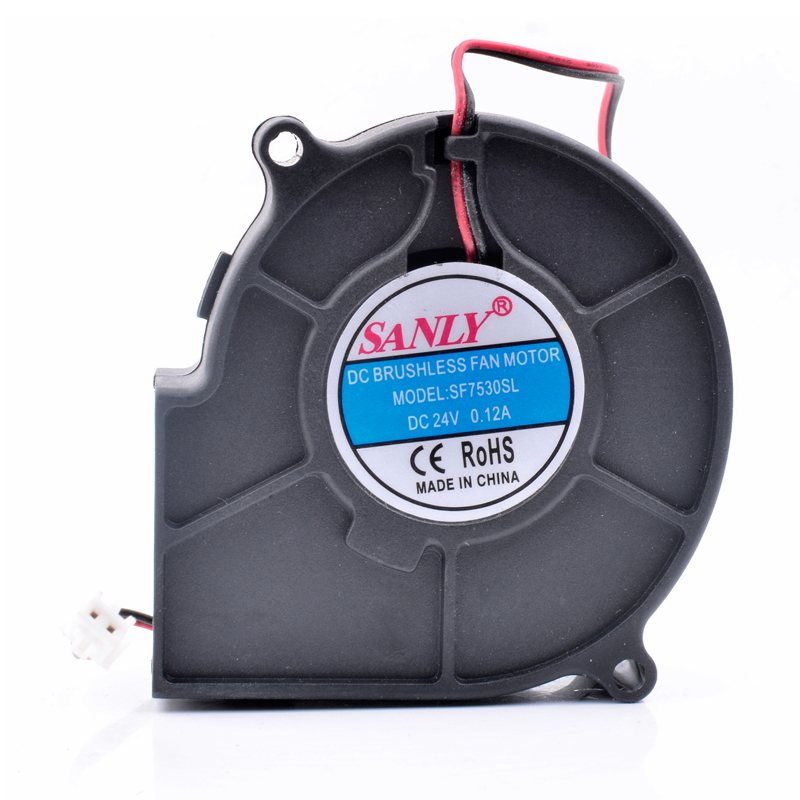SANLY SF7530SL 24V 0.12A quiet centrifugal turbine blower cooling fan