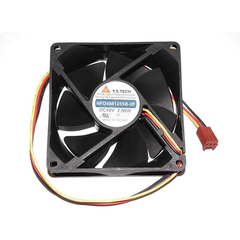 Y.S.TECH NFD4881255B-2F DC 48V 2.88W 3-wire Cooling Fan